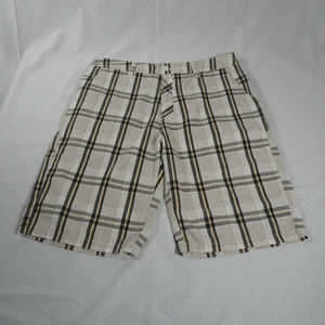 Hurley plaid walking shorts EUC 32